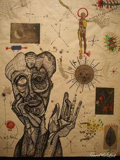 Travel & Lust - Notes - Contemporary Catalan Art - Museu Can Framis - Nirvana Art, Art Sketches, Art Drawings, Trash Art, Grunge Art, Funky Art, Hippie Art, Weird Art, Psychedelic Art