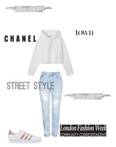 Designer Clothes, Shoes & Bags for Women Chanel Street Style, Adidas Originals, Topshop, Shoe Bag, Polyvore, Stuff To Buy, Shopping, Collection, Design