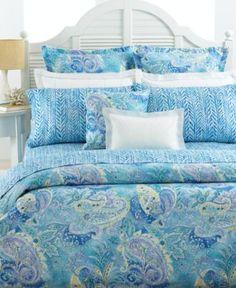 Lauren by Ralph Lauren Bedding, Jamaica Blue Paisley Collection - Bedding Collections - Bed & Bath - Macy's