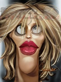 Courtney Love Caricature    Sportcartoons Network would like to give a huge thankyou to Hans Deconinck.  The man responsible for these fantastic caricatures.