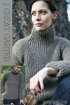 DiaryofaCreativeFanatic - garter stitch - very elegant jumper