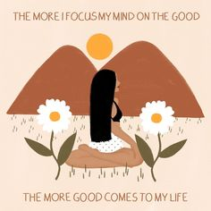"""Lou's Instagram photo: """"'The more I focus my mind on the good, the more good comes to my life.' Prints and other products available via link in bio!"""" Mental Health Check, Positive Wallpapers, Artist Names, New Beginnings, Self Love, Mindfulness, Positivity, Good Things, Thoughts"""