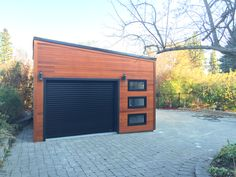 A gorgeous urban garage, made to customer's specification and satisfaction