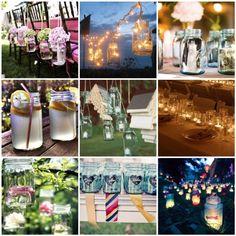 Mason Jar Lights DIY Wedding   Event Solutions, Mason Jar Wedding Decor, Wedding Planners