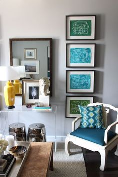 Articles about collection/living room on Apartment Therapy, a lifestyle and interior design community with tips and expert advice on creating happy, healthy homes for everyone. Apartment Living, Apartment Therapy, Apartment Design, Bedroom Apartment, Small Apartments, Small Spaces, Sweet Home, Grey Walls, Interior And Exterior