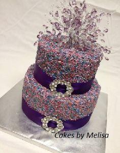 Sprinkle Cake - my little diva would LOVE this royal purple rockstar cake!