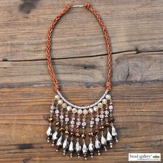 Learn to make your own Urban Glitz fringe necklace designed by Denise Moore using Bead Gallery beads from @MichaelsStores #MadeWithMichaels