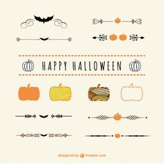 More than a million free vectors, PSD, photos and free icons. Exclusive freebies and all graphic resources that you need for your projects Halloween Borders, Halloween Vector, Halloween Design, Happy Halloween, Free Vector Images, Vector Art, Bullet Journal Halloween, Cd Design, Adornos Halloween