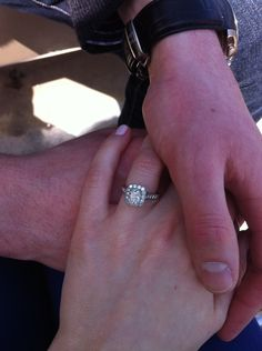 Halo engagement ring from our Bel Dia collection.