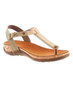 Look at this #zulilyfind! Taupe Mila T-Strap Sandal - Women #zulilyfinds