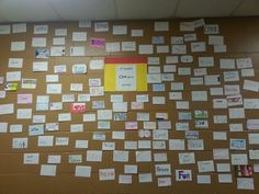 Carlisle Middle School (Iowa) shows off its #Oneword wall! Great back-to-school activity.