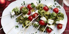 Tortellini Skewers This has been my appetizer for ALL the holiday party this year. Don't judge!