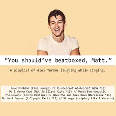 A link to a playlist of Alex laughing while singing!