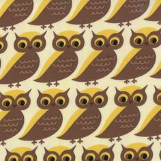 Smore Love Whose Who Marshmallow Owl yardage - Eric and Julie Comstock for Moda - sku - Sew Lux Fabric Indian Summer, Kids Nap Mats, Owl Kids, Hook And Loop Tape, Drapery Fabric, Surface Design, Marshmallow, Fabric Design, Designer