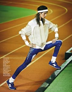 "The Terrier and Lobster: ""Marathon Woman"": Julia Frauche by James Macari for Grazia France March 2013 Sporty Girls, Sporty Look, Sporty Style, Sport Editorial, Editorial Fashion, Sport Fashion, Fitness Fashion, Fitness Outfits, Fashion Women"