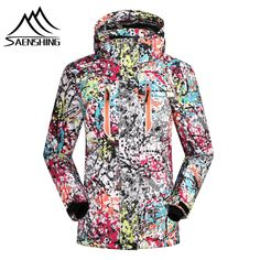 64.05$  Buy here - http://alif0p.worldwells.pw/go.php?t=32729150502 - Top Quality Women ski Jacket Waterproof Skiing Jacket Hiking Thicken Clothes Brand New Snow Clothes Winter Thermal sportscoat