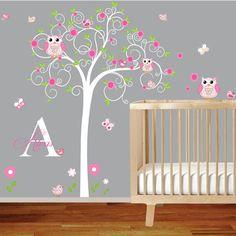 Rainbow Wall Decal Girls Wall Stickers Nursery Baby Room Decor - Baby room decals