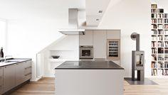 Vila Bonn | realizácie kuchyne Eggersmann Cocinas Kitchen, Conception, Corner Desk, Loft, Inspiration, Furniture, Home Decor, Kitchens, Open Plan Kitchen