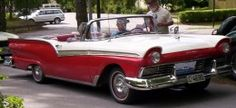 The '57 Ford convertible sold well because 1950's buyers were ready for some fun and flash after the bleak wartime years. The car world was changing but American car makers didn't seem to notice.