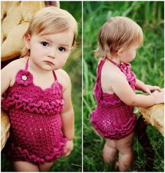 Crochet Petti Romper  Halter  Shabby Chic  Custom by PurdyThings,