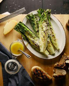 Grilled Romaine & Chicken Salad Chicken Salad, Grilled Chicken, Grilling Recipes, Cooking Recipes, Grilled Romaine, Chicken With Olives, Grilled Peaches, Summer Recipes, Summer Ideas