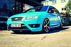 Blue Focus mk2 with big rims #Ford #ST #RS #Europe