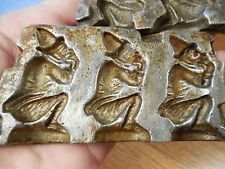 ANTIQUE DRESDEN GERMAN WITCH CANDY CHOCOLATE MOLD NUMBER 142 LOOK !!