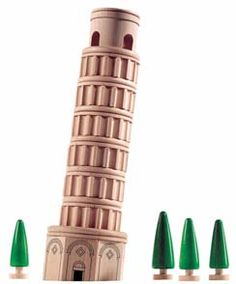 The Leaning Tower of Pisa Wooden Building Blocks Set by Haba