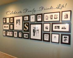 Familie zu feiern...Freunde...52 X 5 Vinyl Aufkleber Wand