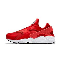 nike huarache red and grey