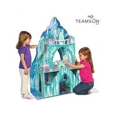 Wooden Doll House Barbie Houses Frozen Big Ice Mansion Princess Furniture Castle