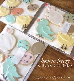 This is really handy! How to Freeze Sugar Cookies.