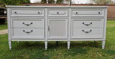 DRESSER CREDENZA/SHABBY CHIC 9 DRAWERS,COTTAGE GRAY !! AVAILABLE !!