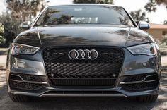 RS3 Mesh Style Grille (Black Trim): Audi 8V A3/S3 (2015+)