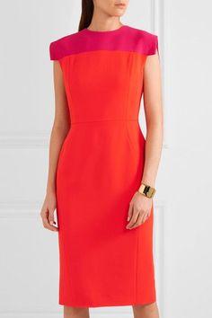 Orange and fuchsia stretch-cady Two-way zip fastening through back 96% rayon, 4% elastane: lining; 96% silk, 4% elastane Dry clean Made in Italy