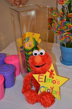LOTS of Sesame Street birthday ideas  (party favors, invites, etc.)