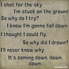 "-- #LyricArt for ""Down"" by Jason Walker"