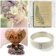 Looking for a rustic wedding theme? Embrace the trees, flowers and ferns with a forest wedding. From rustic pine cones to romantic hair wreaths, check out these popular forest wedding ideas. Rustic Forest Wedding, California Native Plants, Dream Wedding, Wedding Day, Vintage Inspired Wedding Dresses, Wooden Hearts, Here Comes The Bride, Special Day, Invitations