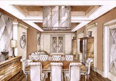 Галерея - эксклюзивный проект квартиры класса люкс дорого красиво качественно