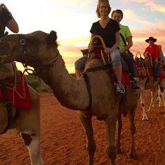Camel ride in Australia