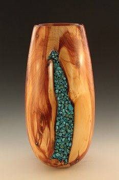 Jim McLain: Juniper-turquoise vase