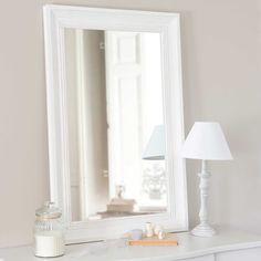 Espejo de madera crudo Al. 90 cm HONORÉ (Para la entrada)