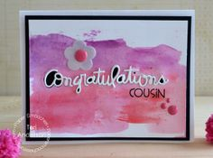 Card by PS DT Teri Anderson using PS Congratulations die, Kinfolk