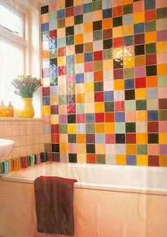 Futuristic Awesome Colorful Bathroom Design Idea With Attractive Tiles Bathroom Colors, Colorful Bathroom, Bathroom Ideas, Small Bathroom, Budget Bathroom, Bathroom Designs, Bathroom Organization, Bathrooms, Bathroom Storage