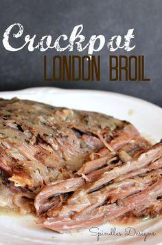 Easy Crock Pot London Broil on SpindlesDesigns.com