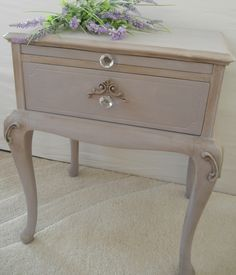 Annie Sloan Chalk Paint -- Paloma and dark wax