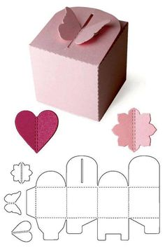 Craft Projects For Kids, Container, Diy Ideas, Packaging, Presents, Cartonnage, Creativity, Fiestas, Kids Craft Projects