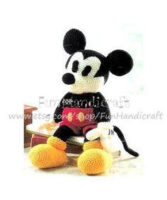 Disney+Mickey+Mouse+Amigurumi+Pattern+in+por+FunHandicraft+en+Etsy,+$4.99