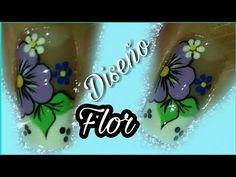 Decoración de uñas con flor - YouTube 3d Nail Art, 3d Nails, Polish, Youtube, Clothes, Simple Nail Design, Black Almond Nails, Nail Stuff, Maquillaje
