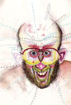 A Man Got High On 52 Different Drugs Then Drew These Trippy Self-Portraits